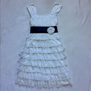 My Michelle White Ruffled Dress